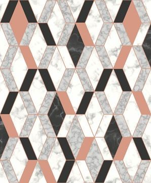 Dutch Wallcoverings Hexagone marmer behang L63805