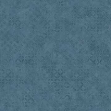 Dutch Wallcoverings Hexagone behang blauw L57601