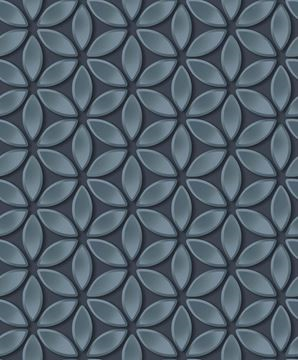 Dutch Wallcoverings Hexagone 3D behang bloemen L52201