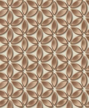 Dutch Wallcoverings Hexagone 3D behang bloemen L52208