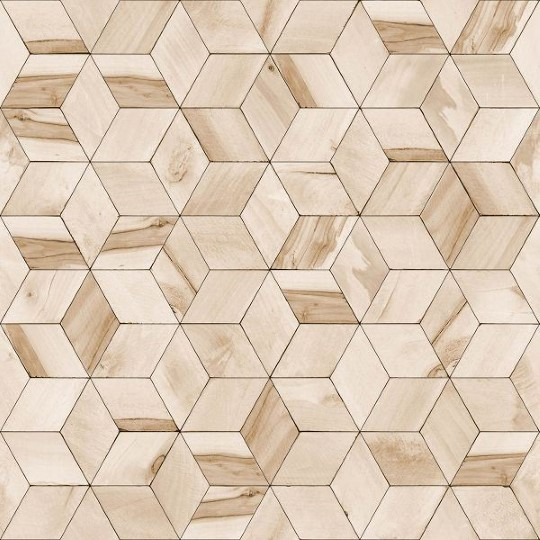 Dutch Wallcoverings Hexagone 3d behang hout L59207