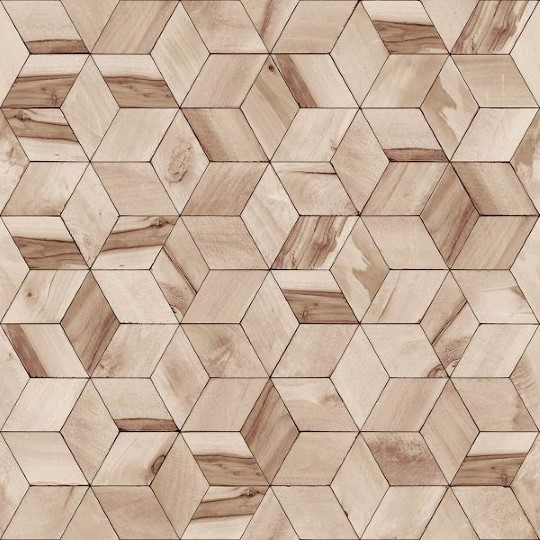 Foto Behang Hout.Dutch Wallcoverings Hexagone 3d Behang Hout L59208