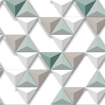 Dutch Wallcoverings Hexagone 3d behang L57504