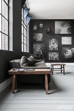 Fotobehang Vanilla & Lime Black out zwart wit