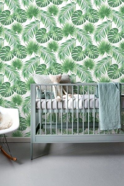Behang Kinderkamer Jungle.Esta Jungle Fever Behang Tropische Bladeren 139013