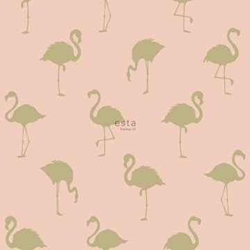 Esta Jungle Fever flamingo behang roze goud 138994
