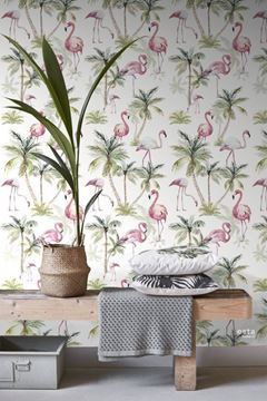 Esta Jungle Fever WallpaperXXL Flamingos als vrolijk accent