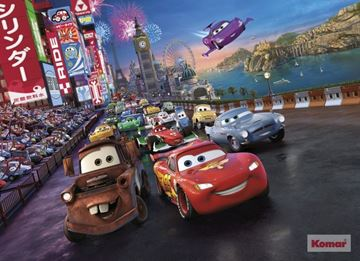 Fotobehang Komar Disney Cars Race 4-401