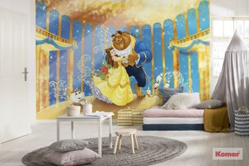 Fotobehang Disney Beauty and the Beast als accentwand