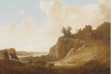 Dutch Painted Memories fotobehang Castle Ruins 8025