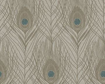 Live In Absolutely Chic behang pauwenveren taupe 36971-6