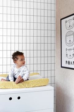 Esta Home Scandi Cool behang zwart wit in kinderkamer