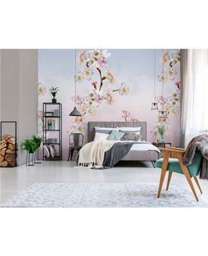 INGK Colorful fotobehang Sweet blossom INK7297 in slaapkamer