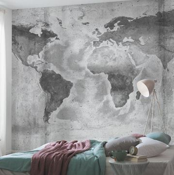 Fotobehang Komar Concrete world in slaapkamer